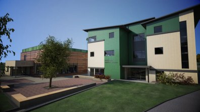 Visual of the plans for phase two of the new Riseholme College campus on the Lincolnshire Showground.