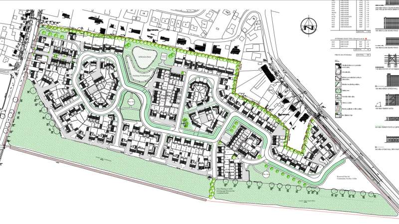 The updated plans for 198 homes in Branston. Photo: Taylor Wimpey