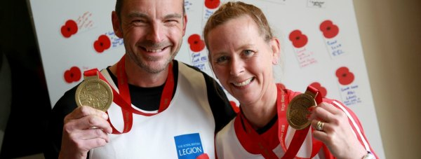 The couple ran 26 miles to raise money for the charity