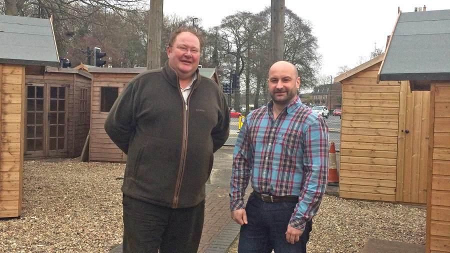 Marc Jones (right) with firearms dealer John Kaberry