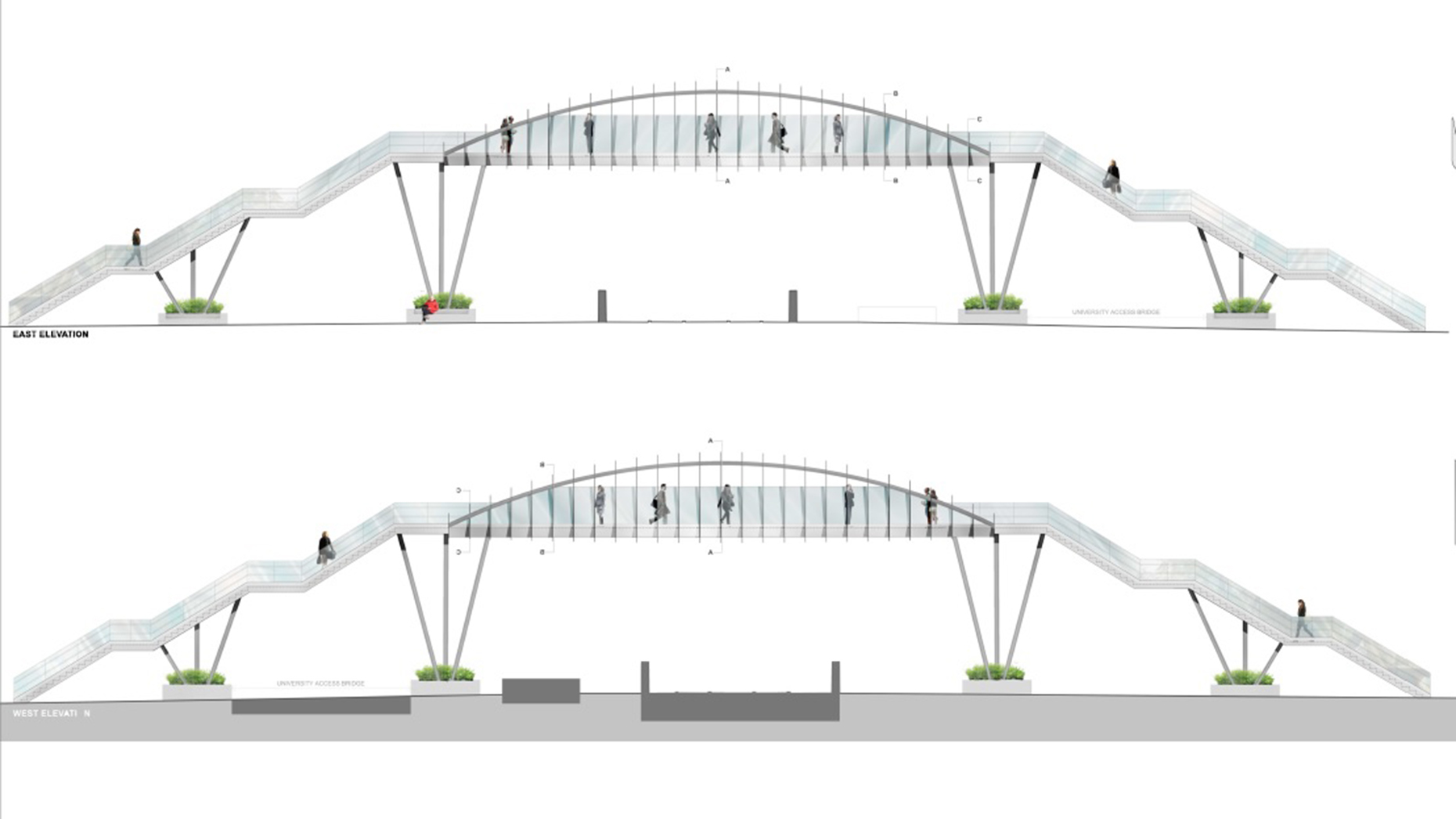 Brayford footbridge back on the table as new designs unveiled