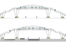 New designs revealed for the Brayford Wharf footbridge on April 8, 2016. Photo: Network Rail