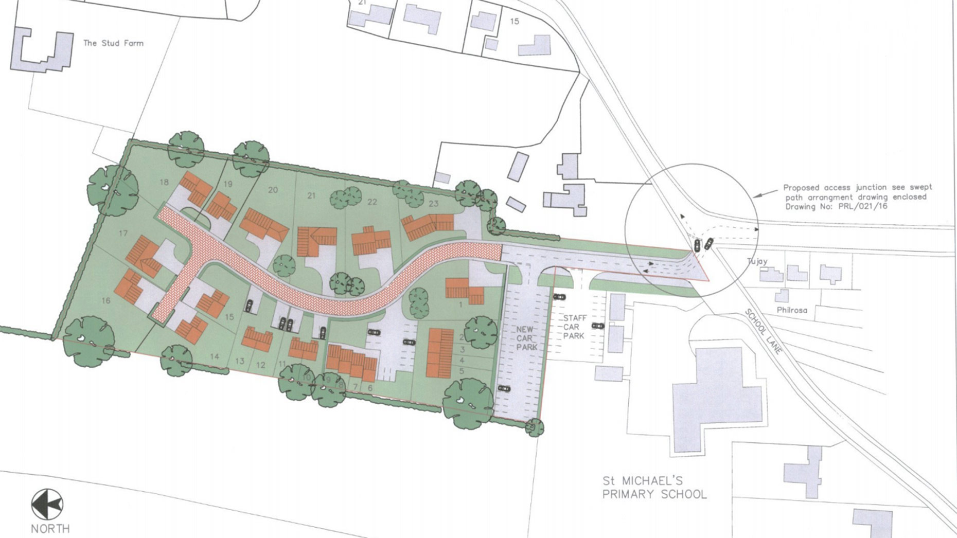 Plans for 23 homes and school car park to ease traffic problems in