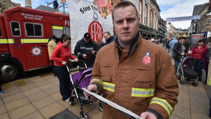 Lincolnshire FBU chair Ben Selby. Photo: Steve Smailes for The Lincolnite