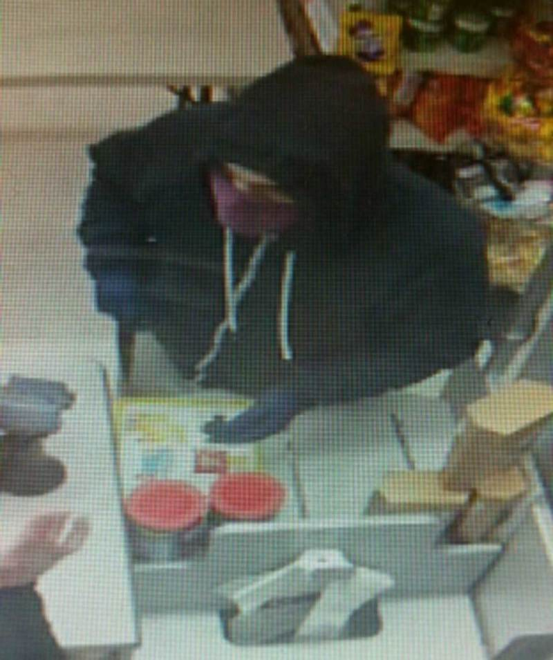 CCTv image of the suspect in the robbery at McColls on Oakwood Avenue on April 12, 2016