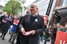Iain Duncan Smith with the Vote Leave campaign on Lincoln High Street. Photo: Steve Smailes for The Lincolnite