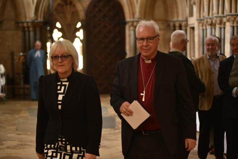Dean of Lincoln Christine Wilson and Bishop of Lincoln Christopher Lowson. Photo: Steve Smailes for The Lincolnite