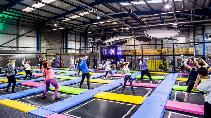 Trampoline fitness classes will be run from the park.