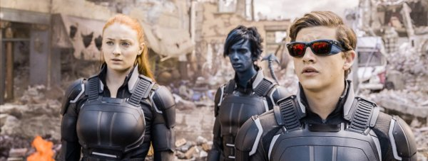 Sophie Turner, Kodi Smit-McPhee and Tye Sheridan in X-Men: Apocalypse. Photo by 20th Century Fox.