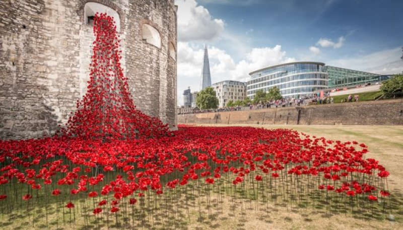The installation was first installed at the Tower of London.