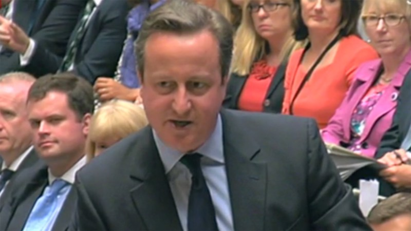 Prime Minister David Cameron answering McCartney's question on June 8