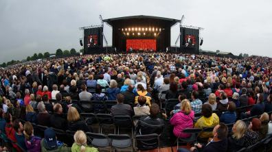 Some 17000 people attended the Elton John concert at the Lincolnshire Showground. Photo: Steve Smailes for The Lincolnite