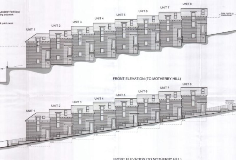The proposals for the new homes on Motherby Hill.