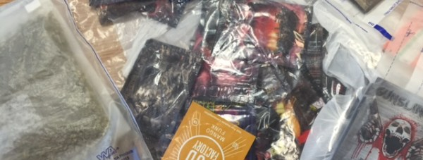 The packets of substances  confiscated on Archer Street on Monday, June 27.