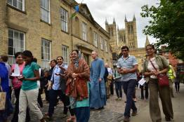 Lincoln residents took part in the first peace walk on July 25 2016 to promote togetherness and tolerance. Photo: Steve Smailes for The Lincolnite
