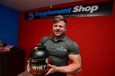 Jamie Will, owner of The Supplement Shop. Photo: Steve Smailes for The Lincolnite
