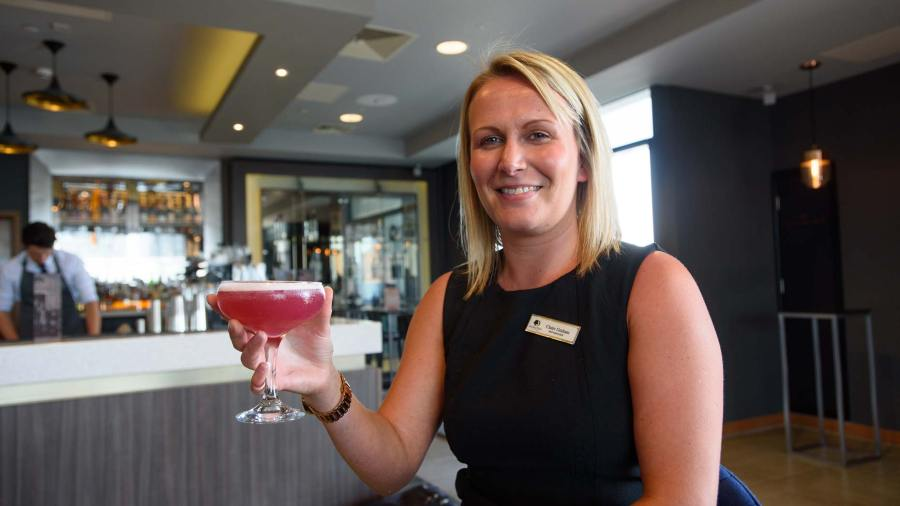 Claire Graham, Bar Manager at the Electric Bar in Doubletree by Hilton, Lincoln. Photo: Steve Smailes for The Lincolnite