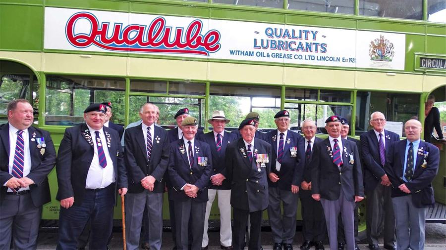 Members of The Royal Lincolnshire And Royal Anglian Regiment Association. Photo: Marilyn Shepley