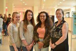 Aliysha Laws, 14 (second from the right) with her friends and mum. Photo: Steve Smailes for The Lincolnite