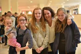 Holly Kent, 11 (second from the left) with her friends and family auditioned for Britain's Got Talent at Waterside in August. Photo: Steve Smailes for The Lincolnite