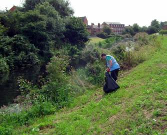 River Care volunteers cleared the banks of the River Witham. Photo: River Care