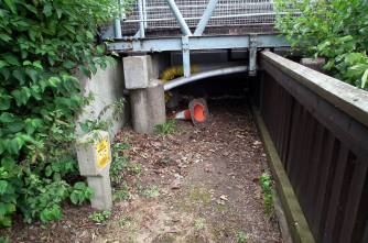 Traffic cones were found on the banks on the River Witham. Photo: River Care