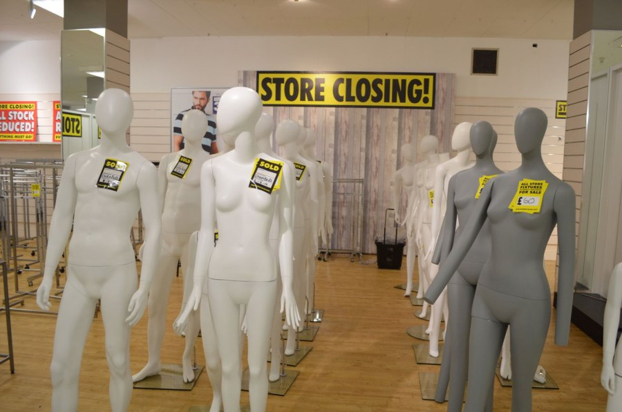 Even the mannequins are for sale. Photo: Sarah Harrison-Barker