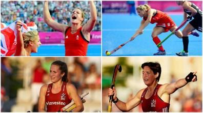 Proud Lincolnshire hockey stars: Crista Cullen, Georgie Twigg, Shona McCallin and Hannah Macleod. Photo: Team GB