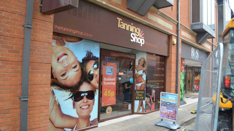 The Tanning Shop has also had a decrease in passing trade since the start of the work in St Benedict's Square, Lincoln. Photo Sarah Harrison-Barker