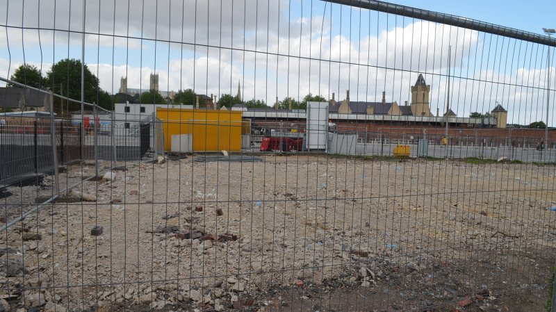 Preparation is underway at the Tentercroft Street car park to move bus services to a temporary hub there.
