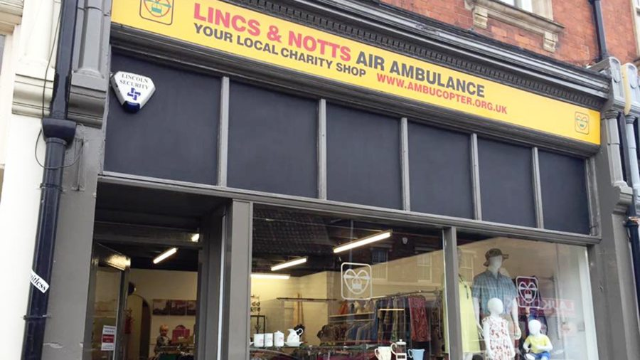 The Lincs and Notts Air Ambulance on Lincoln High Street has reopened
