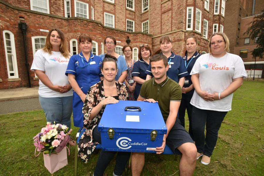 Amanda Naylor and Dan Nicholson donated a cuddle cot in memory of their daughter Myla Grace.