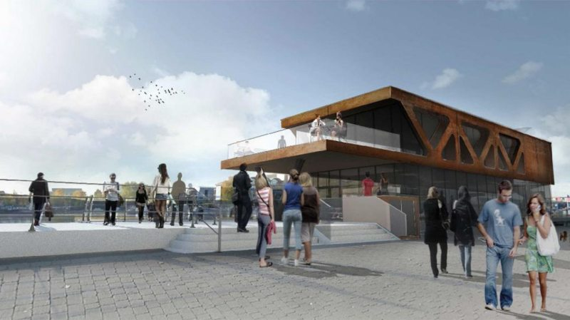 New designs for the floating restaurant on the Brayford: Stem Architects