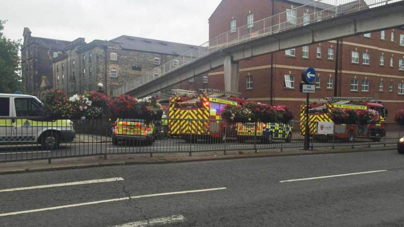 Emergency services at the scene of the crash on Broadgate on Wednesday, September 7. Photo: The Lincolnite