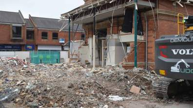 Demolition of the Cornhill Exchange building is underway. Photo Sarah Harrison-Barker for The Lincolnite