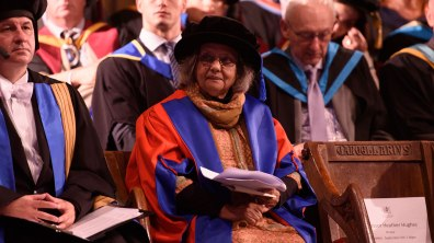 Ela Gandhi received an honorary degree Photo: Steve Smailes for The Lincolnite