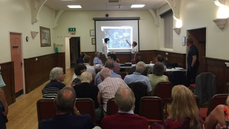 Residents, local councillors and college representatives heard from the team behind the design plans at the meeting on Wednesday, September 14.