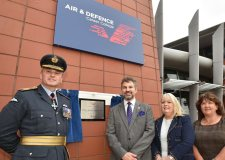 Lincoln College Group CEO Gary Headland and AVM Andrew Turner officially opened the Air and Defence Career College today. Photo: Steve Smailes for The Lincolnite