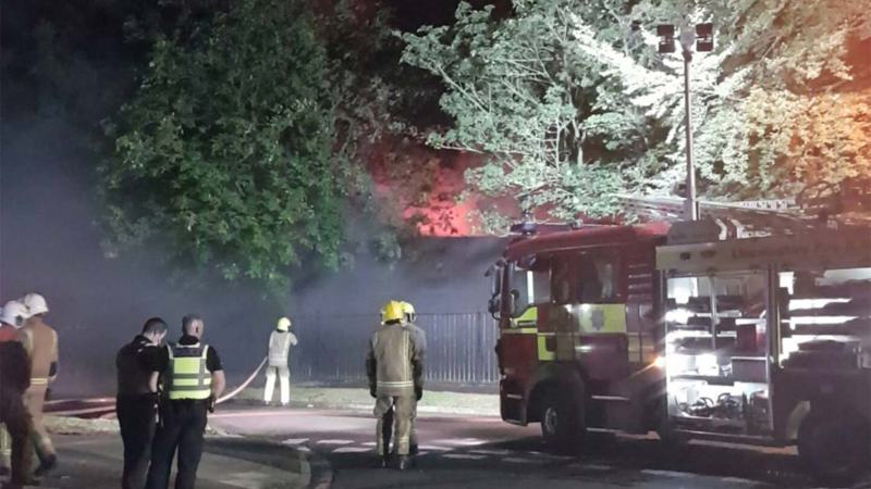 The fire severely damaged the building. Photo: Ian Betton