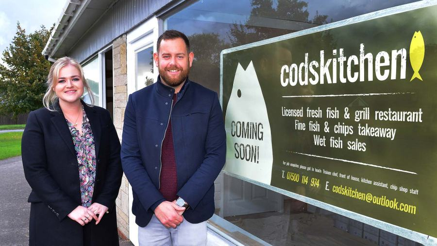 Banks Long & Co Surveyor Harriet Hatcher and Cod's Kitchen General Manager and Head Chef Jarrod Sellers