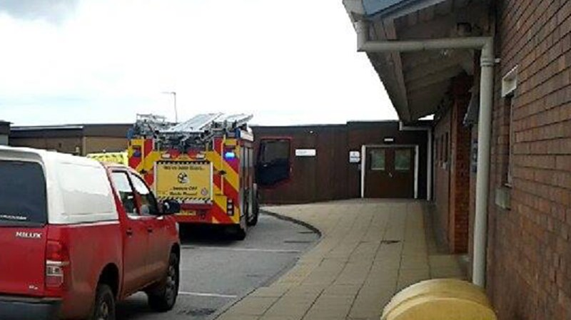 Patients were unable to enter the building. Photo: Ashley Hill