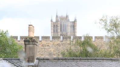 A secret view of the cathedral and castle together. Photo: Emily Norton for The Lincolnite