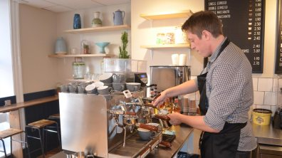 There are coffee specialist at the new CafeW