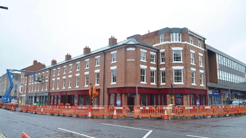 The building on the corner of Tentercroft Street is almost complete, with tenants moving in soon.