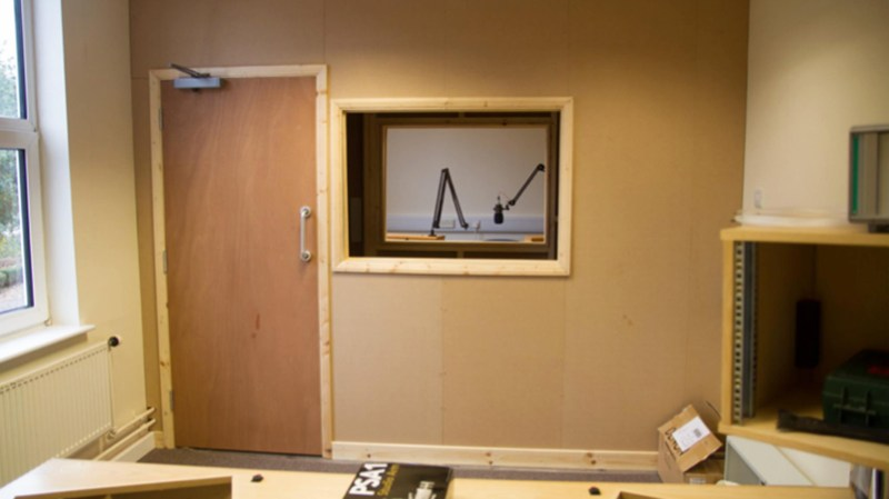Lincoln City Radio Studio Two under construction