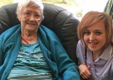 Chelsea with her grandmother Liz Hegarty