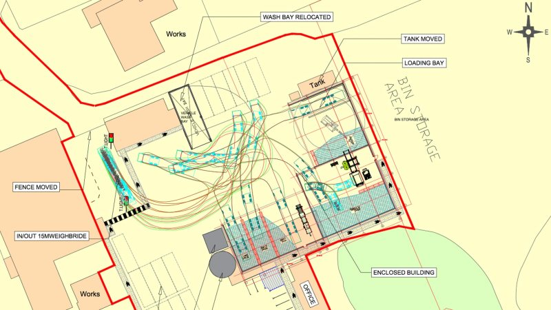 Site plans. Photo: Veolia ES (UK) Ltd
