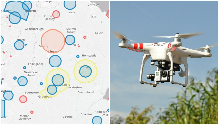 A new free tool has been launched to help drone users to understand where restrictions apply across the country. Screenshot: No Fly Drones