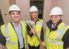 PICU project team start demolition works on site. (L-R) - Chris Ashwell, Divisional Manager for Adult Inpatient Mental Health Services, Tracy Colpitts, new PICU Ward Manager and Martin Vokes, LPFT Business Manager)