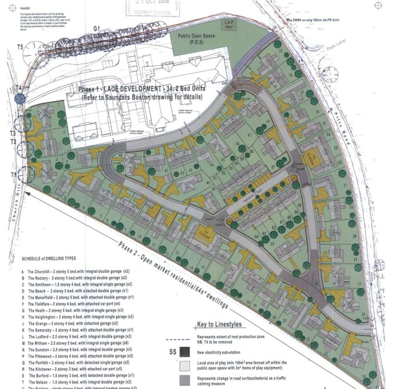 Phase two of the development includes 64 houses, adjacent to the railway line.